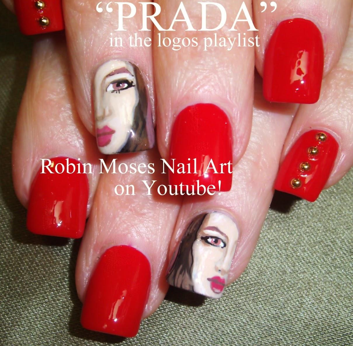 Nail Art By Robin Moses Prada Nail Art Couture Nail Art Prada