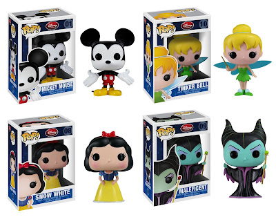 Disney Pop! Vinyl Figures Wave 1 - Mickey, Tinkerbell, Snow White & Maleficent