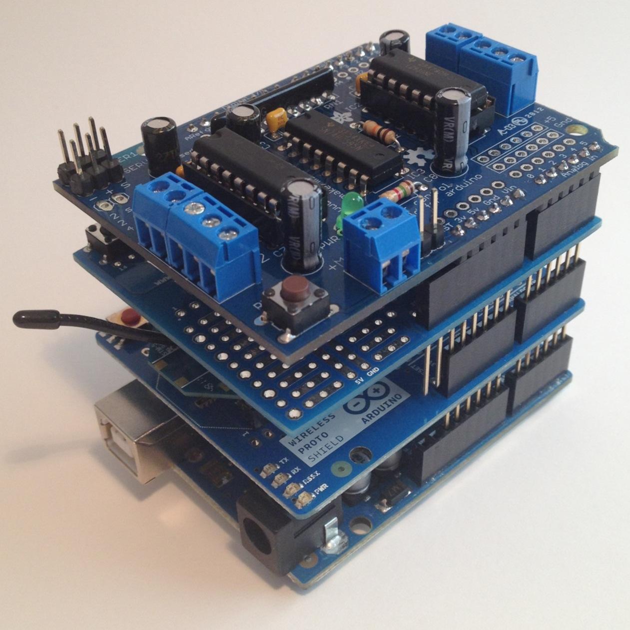 Roboslave balancing bot arduino shield stack