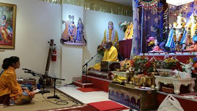 Preacher of Jagadguru kripalu in Radha Govind Dham Hindu Temple