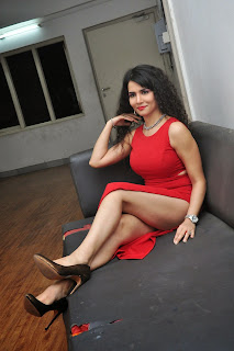 Ritu Sachdev in Red Leg Split Gown Sizzling Beauty Lovely Pics