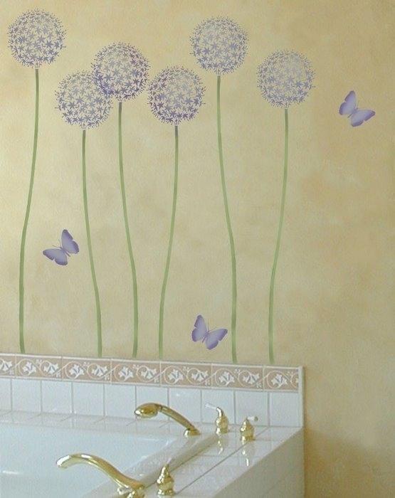 Трафареты для покраски стен в ванной своими руками