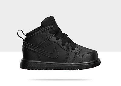 Air Jordan 1 Mid Flex (2c-10c) Toddler Girls' Shoe Black/Black-Black, Style - Color # 554727-010