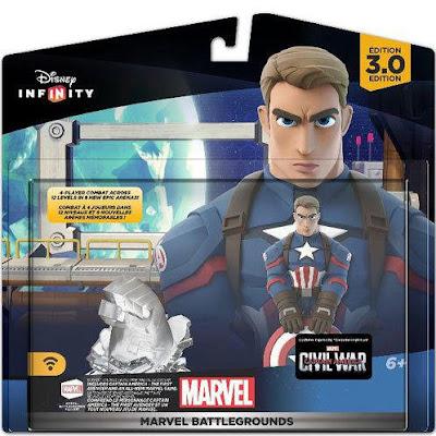 TOYS : JUGUETES - DISNEY Infinity 3.0 Capitán América - Captain AmericaMarvel Battlegrounds Figura - Muñeco - Videojuegos Marzo 2016 | A partir de 6 años Comprar en Amazon España & buy Amazon USA