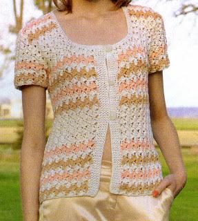 Como confeccionar un saquito clasico tejido en crochet (talle 2)(diagramas)
