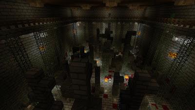 Minecraft Zombie pit parkour challenge