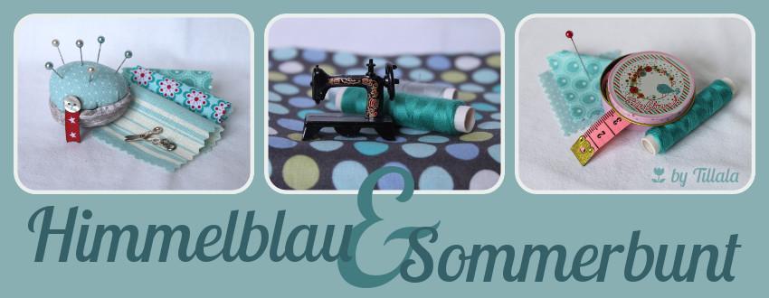 Himmelblau und Sommerbunt