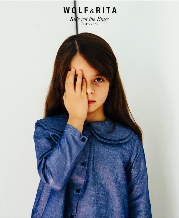 Double layered collar detail by Wolf and Rita for their AW14/15 kidswear collection