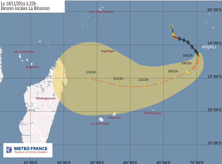 Adjali rétrogradé au stade de tempête tropicale modérée