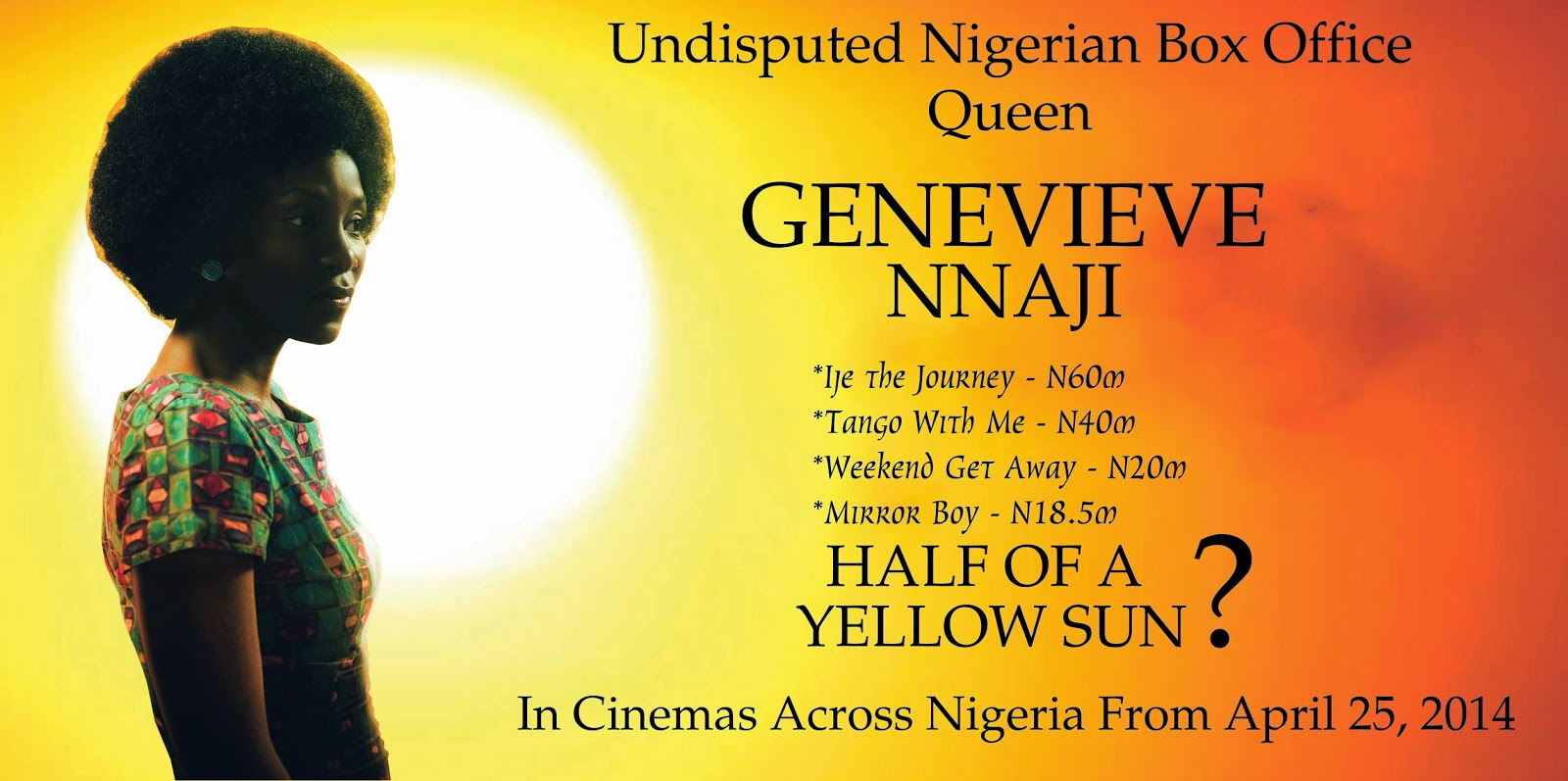 half of a yellow sun movie premiere nigeria
