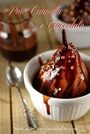 Pere al vapore con cioccolato