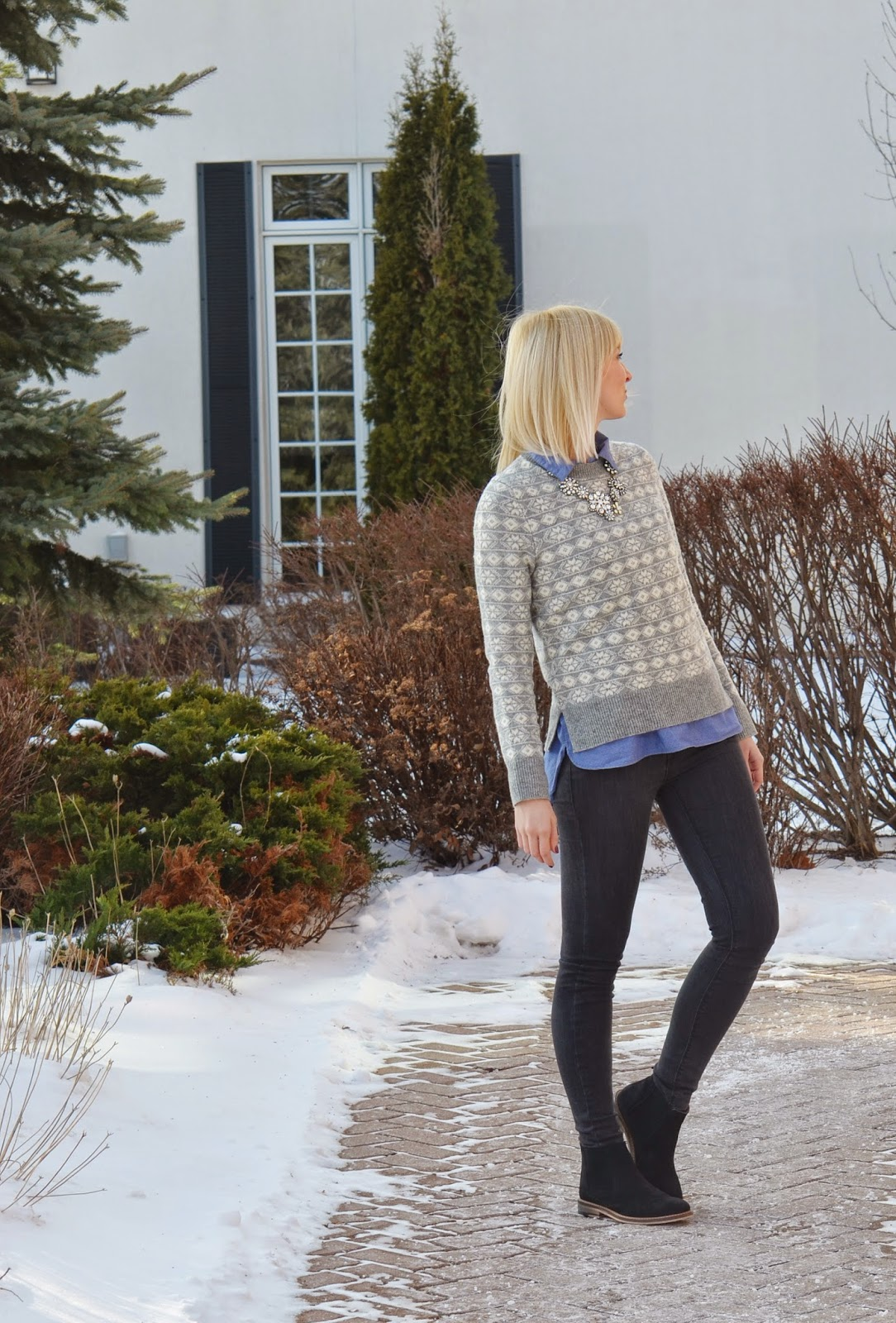 Style, Preppy, fair isle, sweater, sweater weather, Gap, gapstyle, Zara, Benevolent Jewels, asos,  sweater style, fairisle sweater,