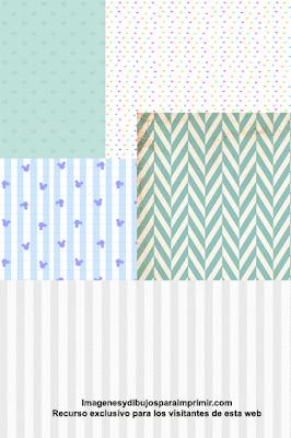 papel scrapbook para bebes para imprimir
