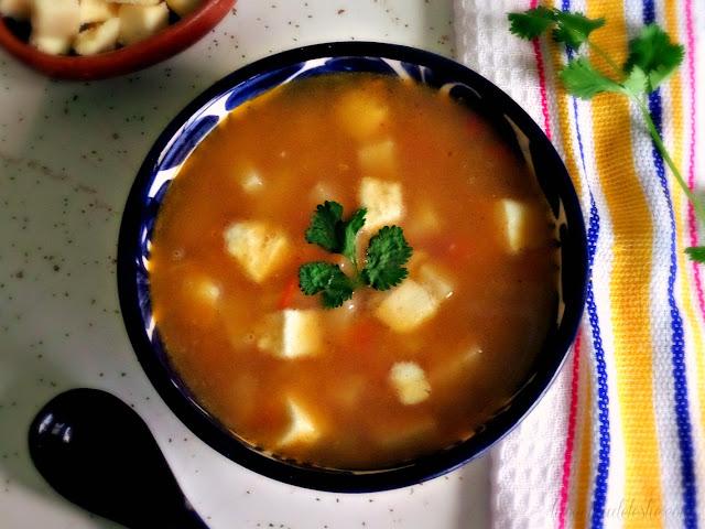 Mexican Potato Soup w/ Queso Fresco - lacocinadeleslie.com