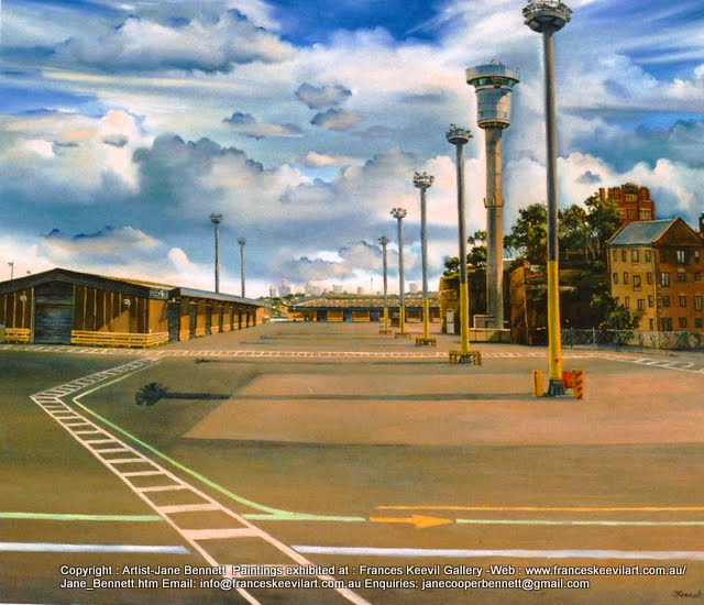 Barangaroo when it was the Hungry Mile oil painting by artist Jane Bennett