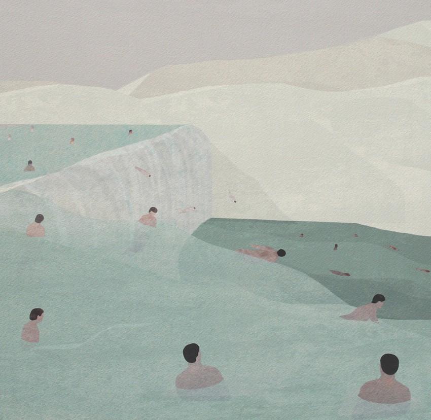 Blue Sutra | Vattenfall © Jon Koko | Ilustración