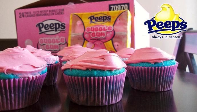 Bubblegum PEEPS cupcakes