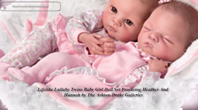 Waltraud Hanl Lifelike Lullaby Twins Baby Girl Doll Set Featuring Heather And Hannah by The Ashton-Drake Galleries - Realistic Baby Dolls