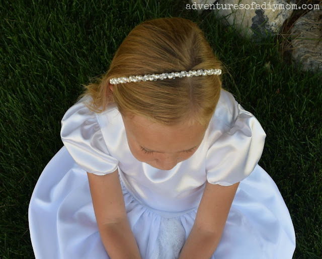 Headband with Swarovski pearls and crystals