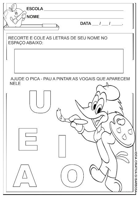 Atividade Férias Identidade e Autonomia Pica Pau