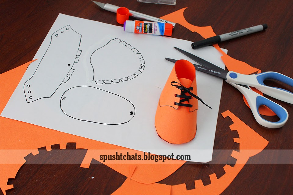 Paper Baby Shoe Pattern Template