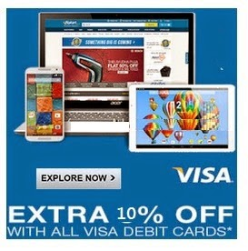 Get extra 10% discount for Visa Cards holder above Rs.5000 at Flipkart : BuyToEarn