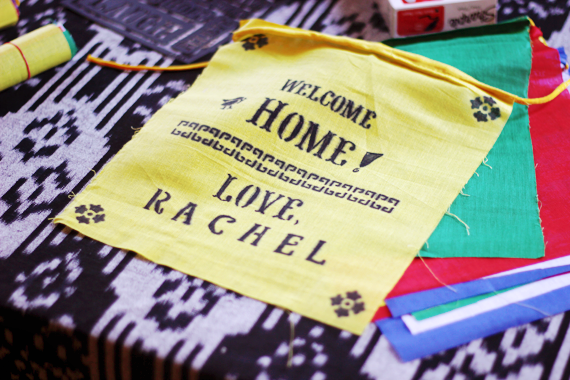 DIY prayer flags // Bubby and Bean