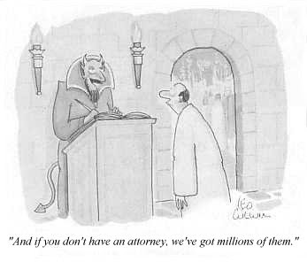 And if you don't have an attorney, we've go millions of them