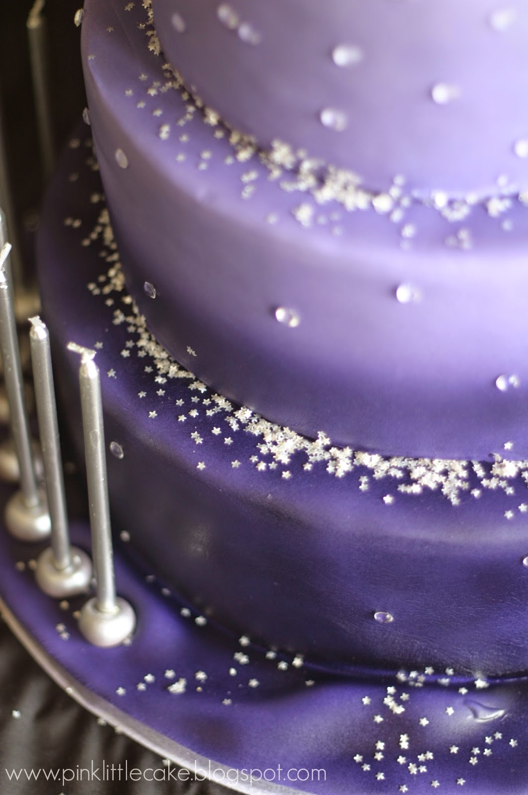 My Pink Little Cake Sweet 16 Ombre Purple Birthday Cake