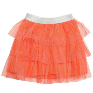 Layered Skirt In Orange from DKNY