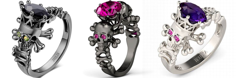 jeulia skull rings