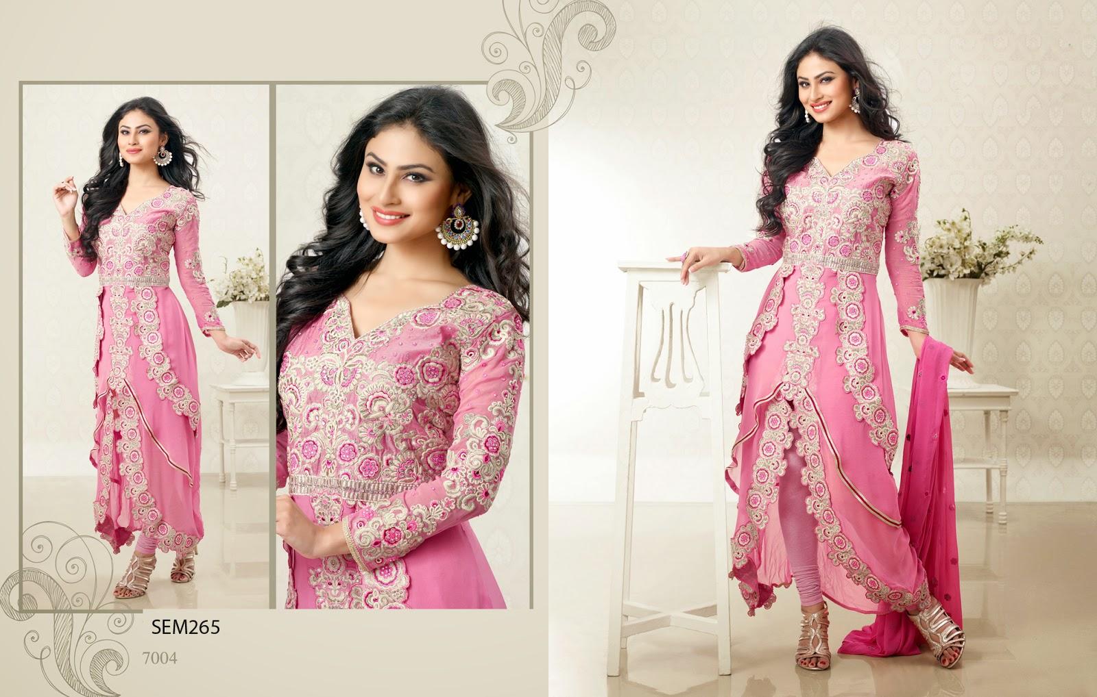 Latest Style of Long Floor Length Frocks Anarkali Suit   Helix ...