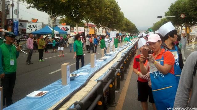 Nuevo récord de Corea de gimbap de mayor longitud