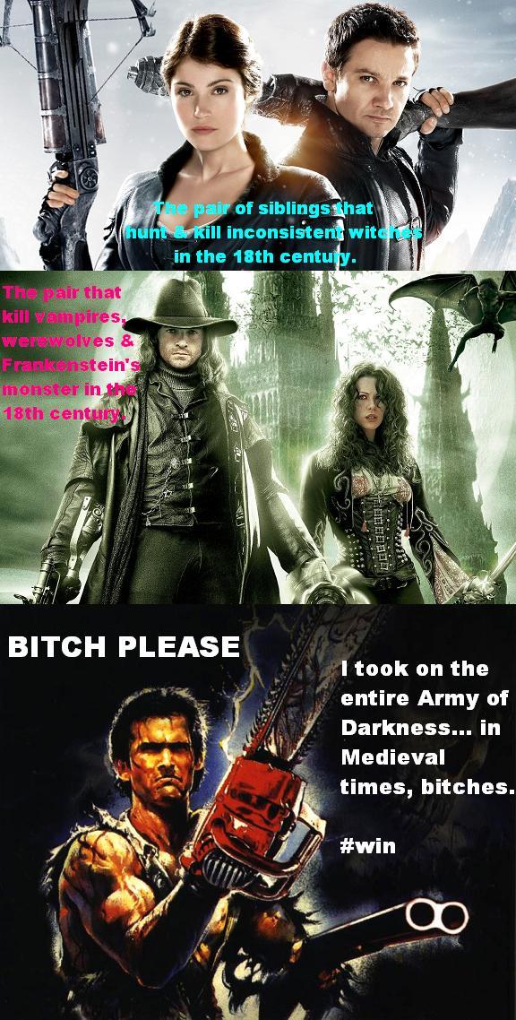 Hansel & Gretel, Van Helsing, Army of Darkness meme