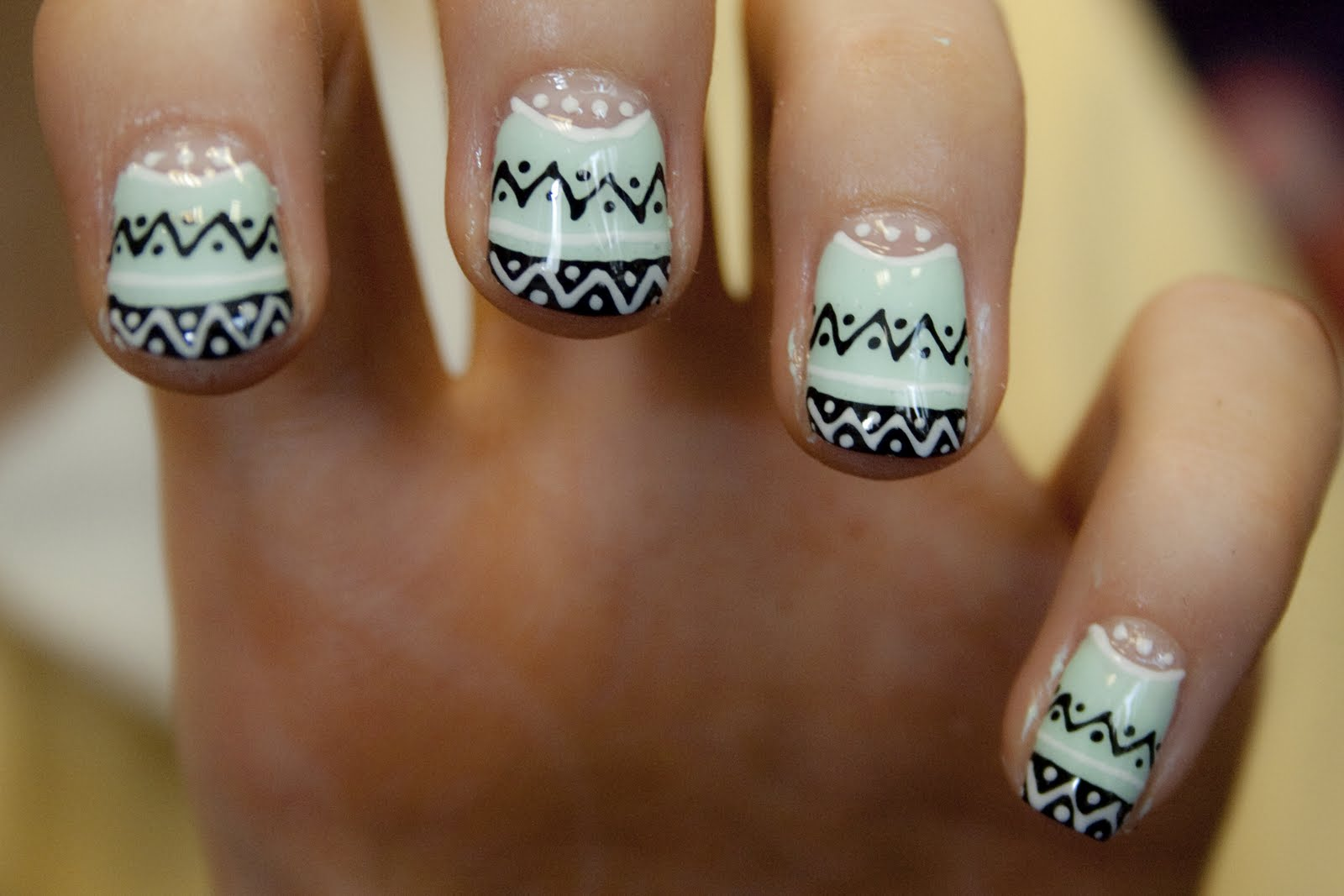 Winter Tribal Nails