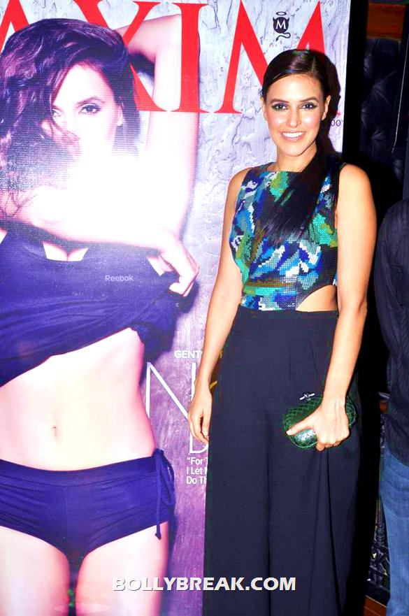 Neha Dhupia in black plazzo pants  - Neha Dhupia at Maxim