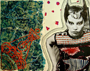 Punk Girl. Collage with embroidery. Posted by Amelia McCrea at 10:04 PM No .