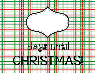 Countdown to Christmas with this free poster!