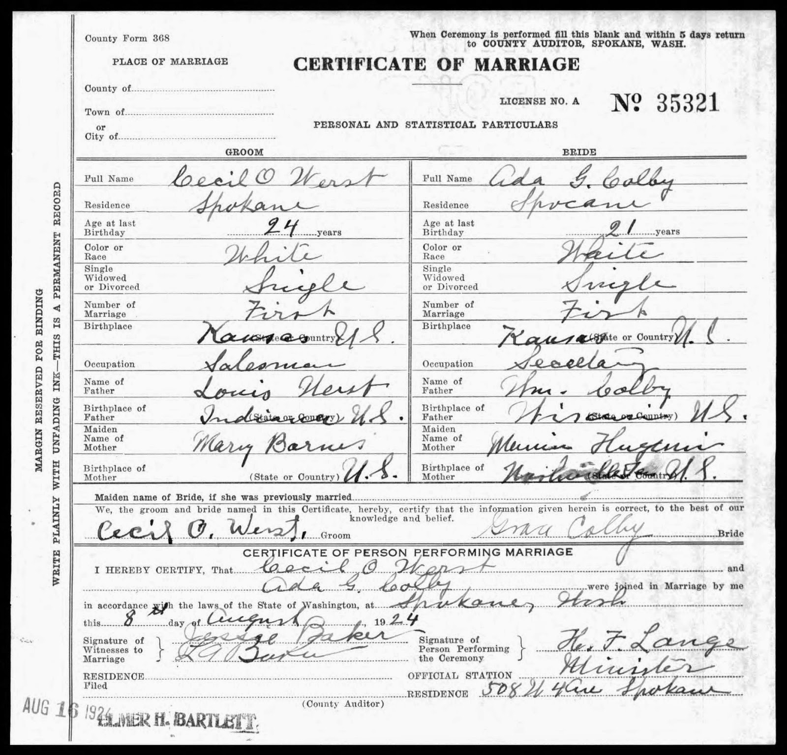 Letters To My Grandparents Marriage Certificate For Maternal