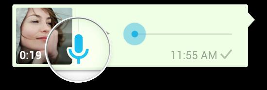 mikrofon akan berubah warna menjadi biru