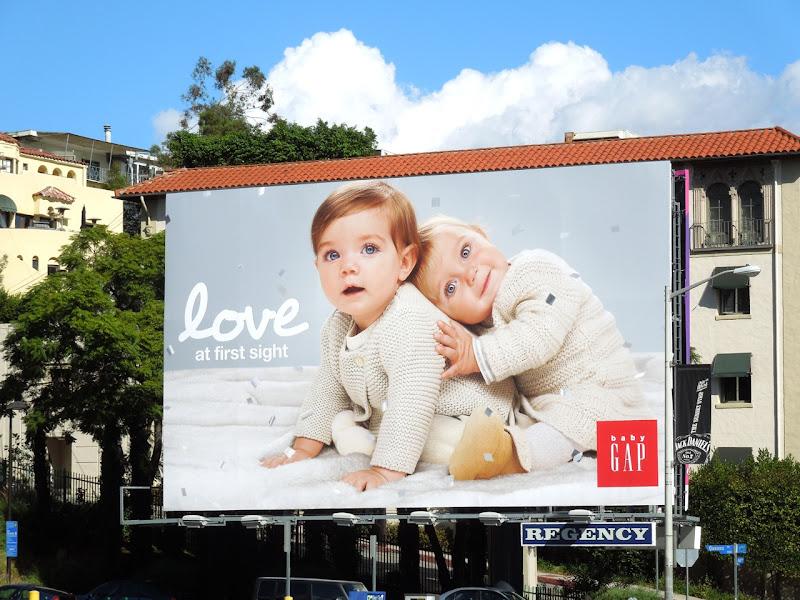 Baby Gap Love first sight billboard