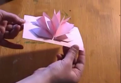 Como hacer una flor de loto en papel ~ Solountip.com