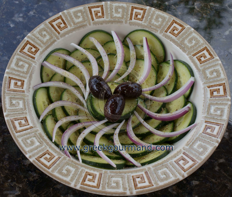 Greek food recipes and reflections toronto ontario canada greek cucumber salad forumfinder Images