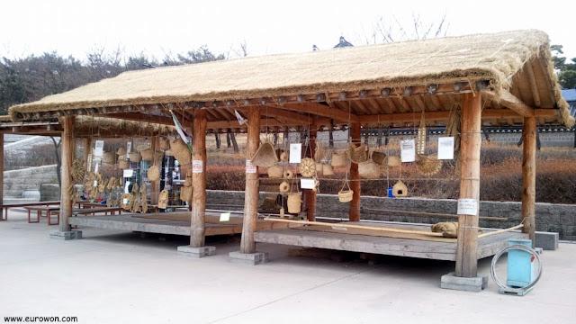 Muestra de instrumentos agrícolas tradicionales coreanos