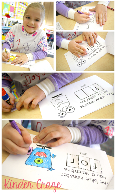cut, unscramble, and glue sight words with Interactive Sight Word Readers from Kinder-Craze