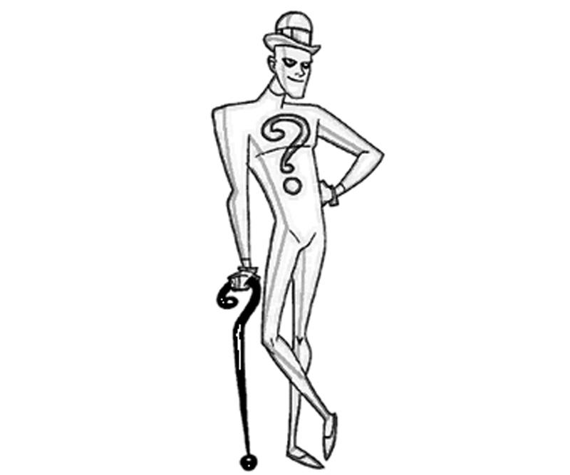 the riddler coloring pages - photo#7