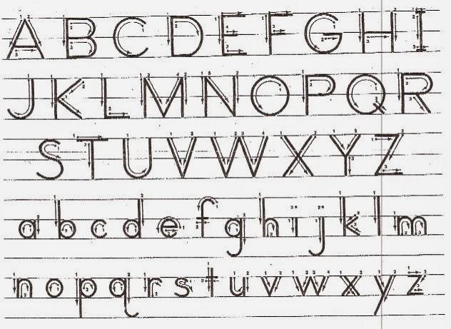 D Nealian Handwriting