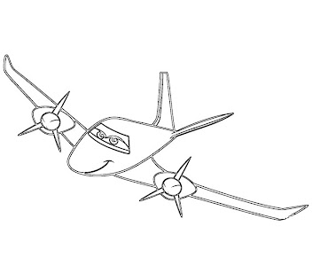 #4 Disney's Planes Coloring Page