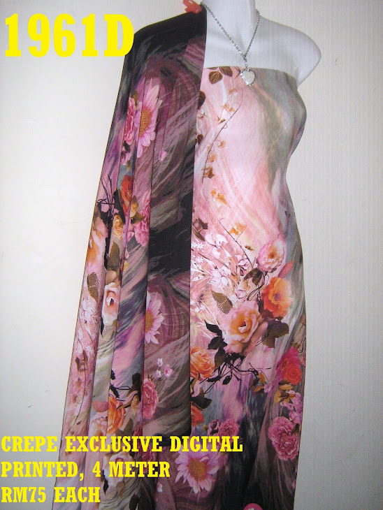 CDP 1961D: CREPE EXCLUSIVE DIGITAL PRINTED, 4 METER