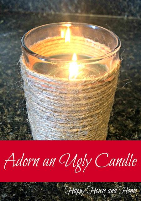 twine DIY, twine craft, diy candle